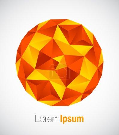 Business geometric round symbol