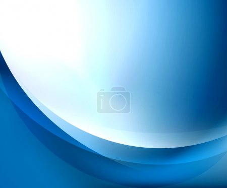 Illustration for Blue smooth wave template. Abstract background - vector eps10 illustration - Royalty Free Image