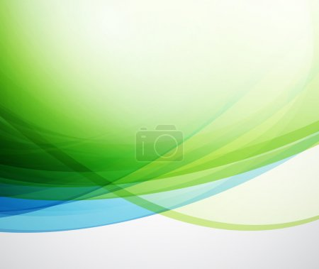 Illustration for Abstract wavy blue vector background - Royalty Free Image
