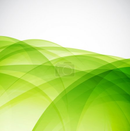 Illustration for Abstract background: green wave. Vector illustration - Royalty Free Image