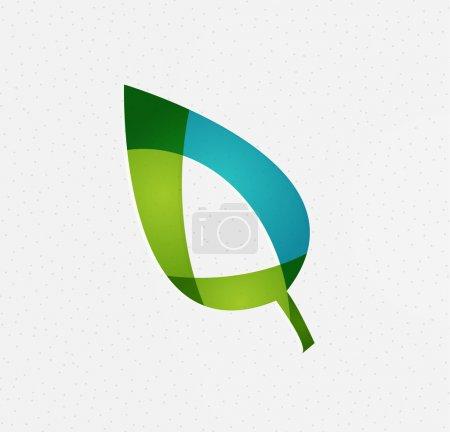 Illustration pour Notion de vecteur vert feuille eco - image libre de droit