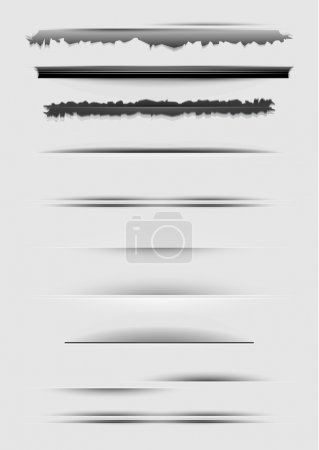 Illustration for Vector dividers set for various design - Royalty Free Image