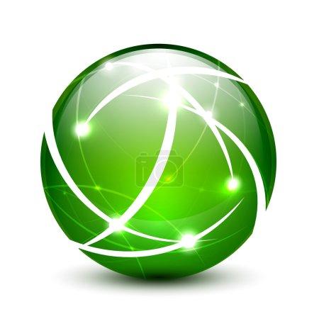 Vector communication globe icon concept
