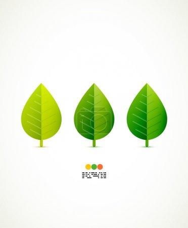 Illustration for Green leaf vector concept design - Royalty Free Image