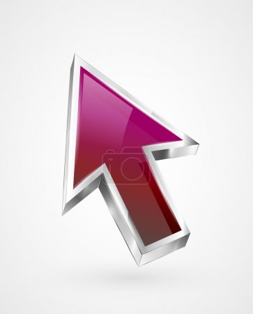 Illustration for Vector flying abstract arrow icon - Royalty Free Image