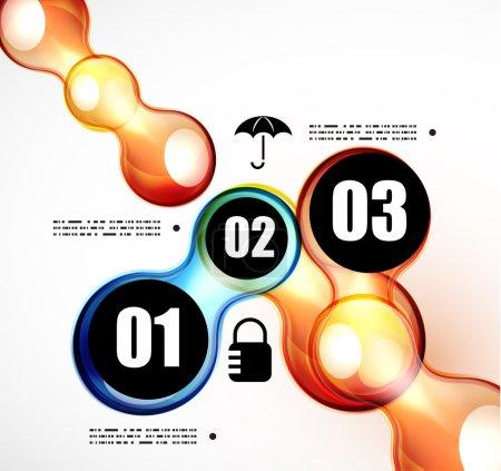 Illustration pour Modèle vectoriel infographie futuriste abstrait - image libre de droit
