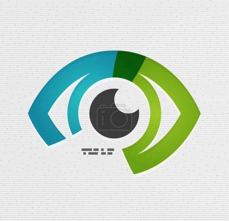 Illustration for Colorful vector eye paper design - Royalty Free Image
