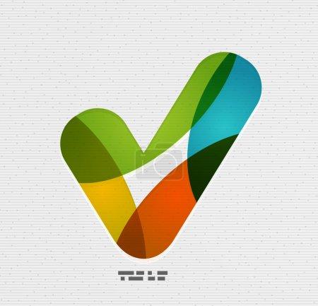 Illustration for Positive checkmark / tick on paper design - Royalty Free Image