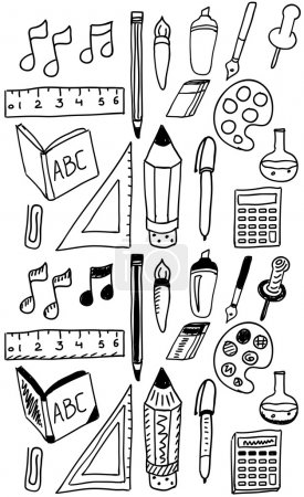 Hand drawn back to school dooldes / icons set
