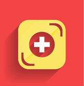 Vector health help icon flat design