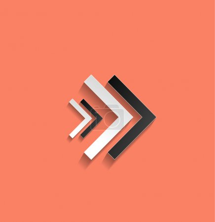 Illustration for Vector arrow flat icon - Royalty Free Image