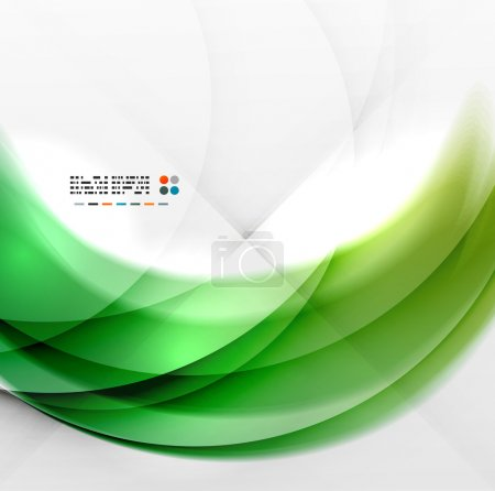 Illustration for Abstract green wave swirl background - Royalty Free Image