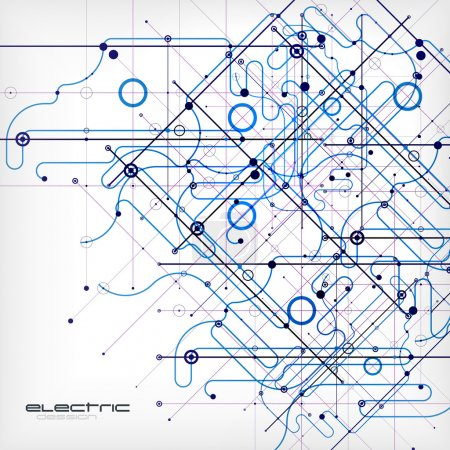 Illustration for Circuit vector abstract background - Royalty Free Image