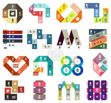 Illustration for Set of origami modern design templates and elements - Royalty Free Image