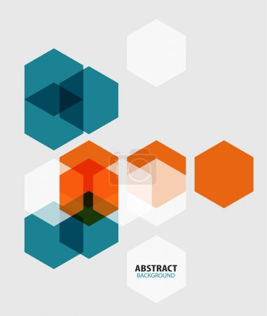 Illustration for Modern art hexagon abstract background - Royalty Free Image