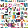 Big set of infographic modern templates - stripes,...