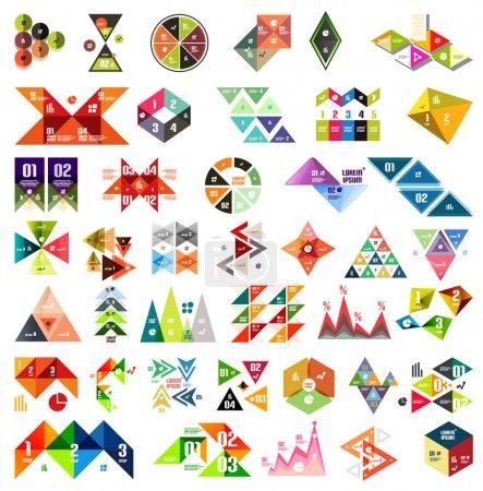 conjunto de plantillas geométricas infográficas - triángulos