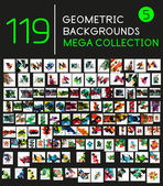 Huge mega collection of 119 geometric shape abstract backgrounds