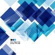 Bright blue textured geometric shapes isolated on ...