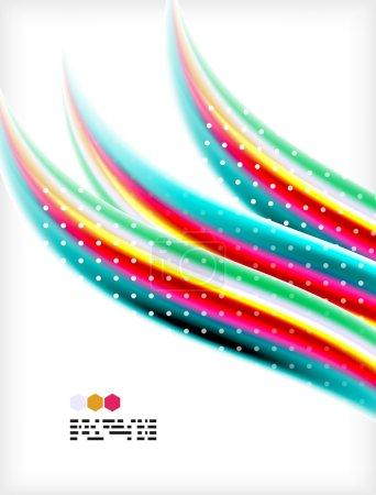 Smooth colorful business elegant wave design