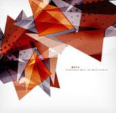 """Постер, картина, фотообои """"современные 3d глянцевая перекрывающихся треугольников"""""""