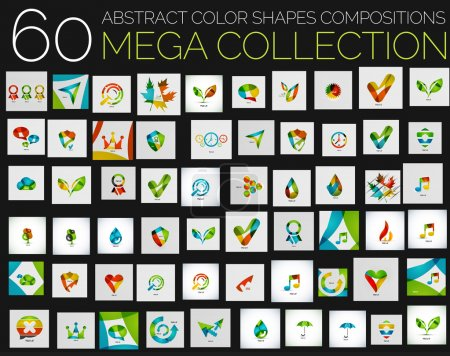 Vector abstract colorful shapes various concepts