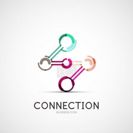 insignia de la compañía icono conexión, concepto de negocio