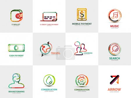 Collection of company logos, business concepts