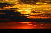 Dramatic sunset.