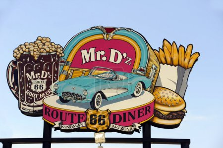 Photo for The Sign for the Famous Mr. D'z Route 66 Diner in Kingman Arizona - Royalty Free Image