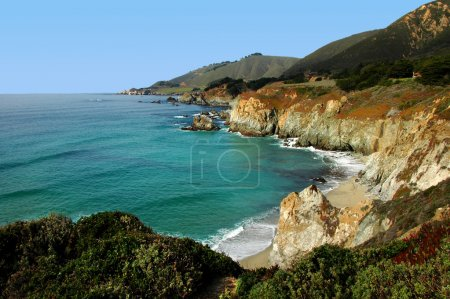 A Beautiful View of the California Coastline along State Highway 1