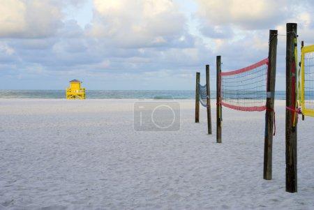 Lifeguard Hut and Volleyball Nets Lifeguard Hut and Volleyball Nets