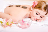 Woman  during spa procedures