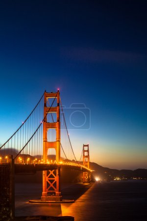 Photo for Golden Gate Bridge by night - Royalty Free Image