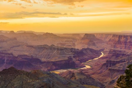 Photo for Sunset at the Grand Canyon seen from Desert View Point, South Rim - Royalty Free Image