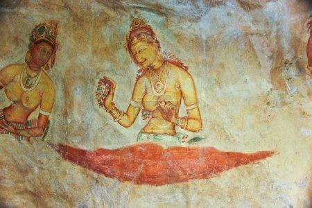 Frescos of ladies in Sigiriya