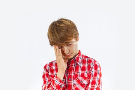 Photo for Portrait of boy in sorrow - Royalty Free Image