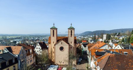 Photo for Famous sankt peter church in Gelnhausen on a sunny day - Royalty Free Image