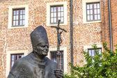 KRAKOW, POLAND - JUL 27, 2013: Statue of Pope John Paul II ( Ble