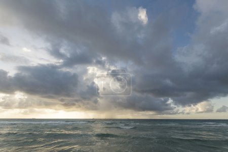 Photo for View of storm seascape in sunset - Royalty Free Image