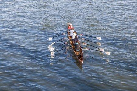 boat team trains at river main