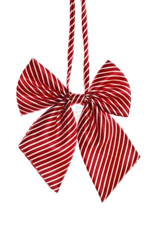 Red bow tie for schoolgirl