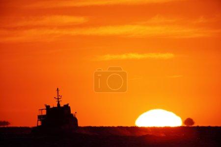 Big bright setting sun