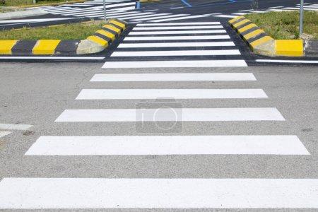 Crosswalk with road marking