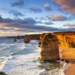 Twelve Apostles at sunset. Great Ocean Road, Victo...