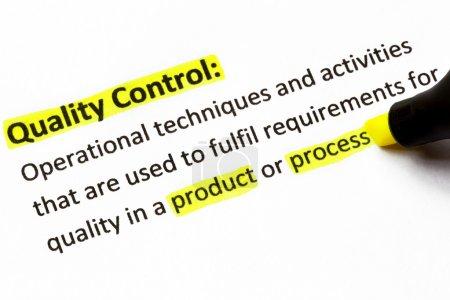 Quality Control Definition