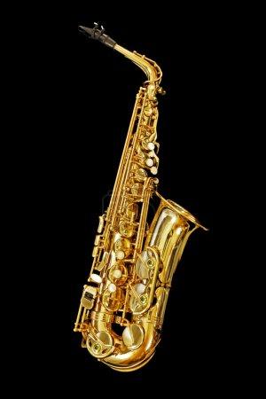Saxophone Isolated on Black