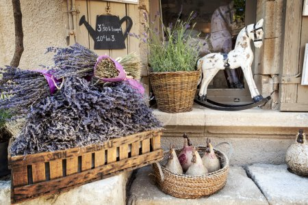 Photo for Lavender for sale in Provence, France. - Royalty Free Image