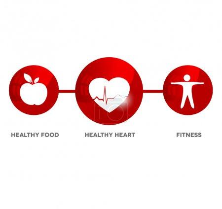 Wellness and medical symbol.