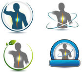 Human back spine healthcare symbols